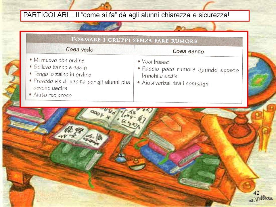 PARTICOLARI…Il come si fa dà agli alunni chiarezza e sicurezza!
