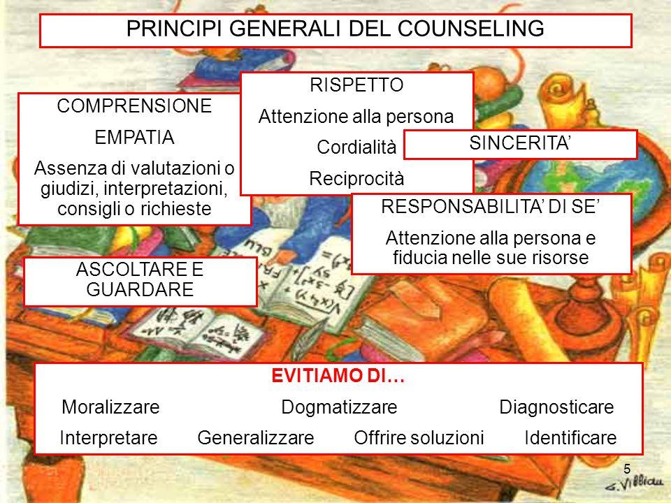 PRINCIPI GENERALI DEL COUNSELING