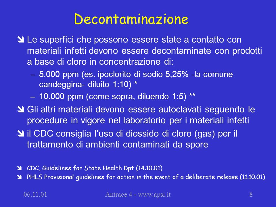 Decontaminazione