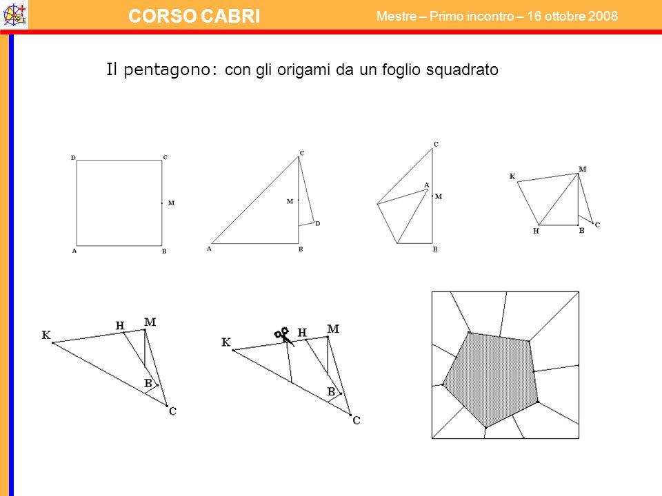 Il pentagono: con gli origami da un foglio squadrato