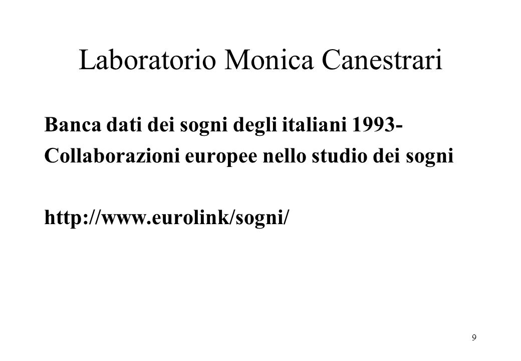 Laboratorio Monica Canestrari