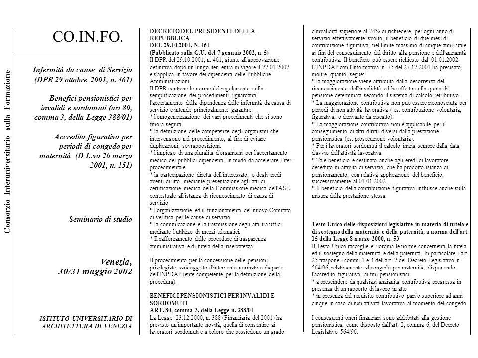 CO.IN.FO. Venezia, 30/31 maggio 2002