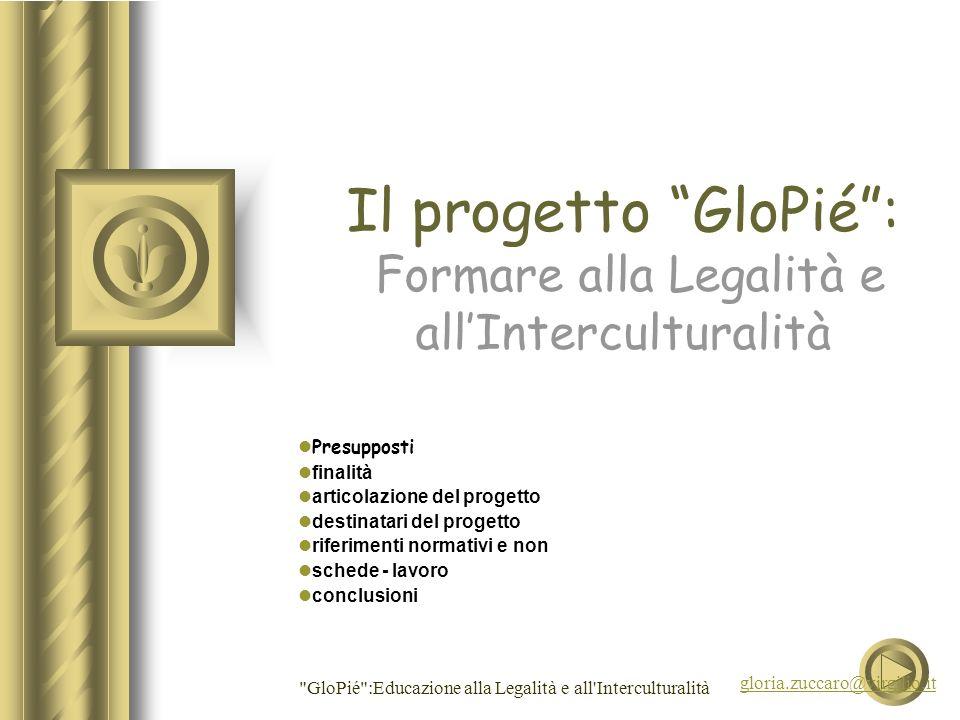 Il progetto GloPié : Formare alla Legalità e all'Interculturalità
