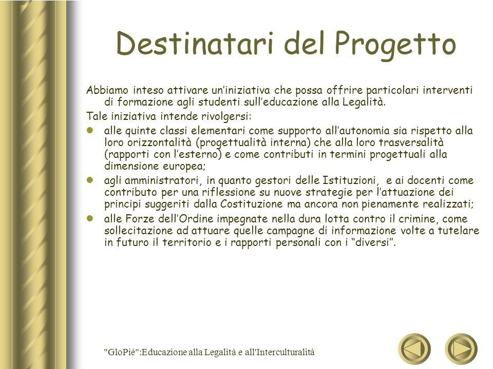 Destinatari del Progetto