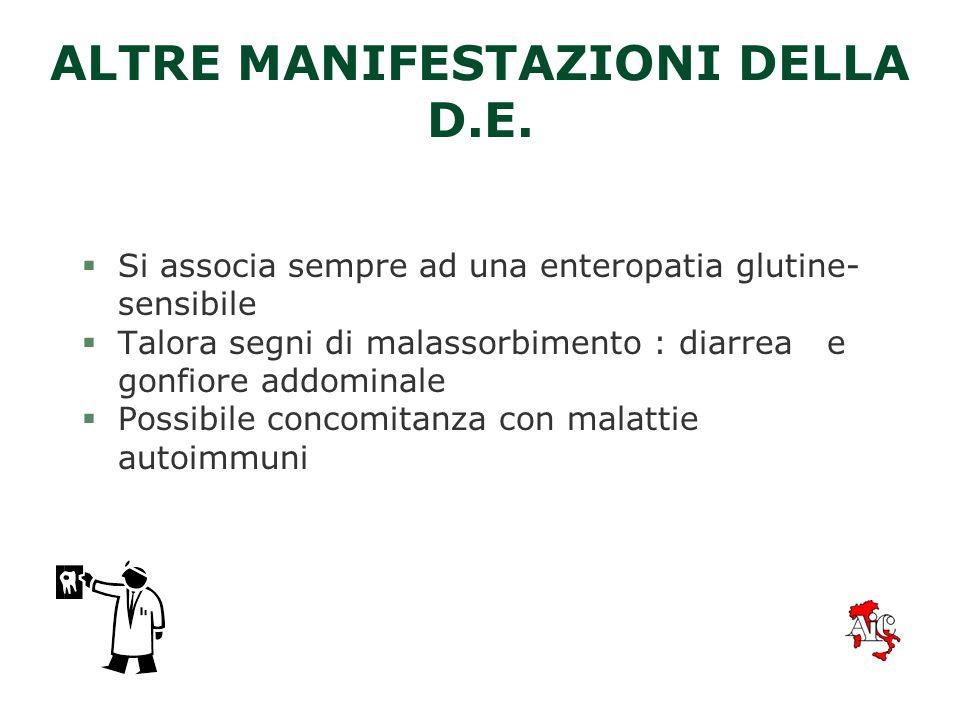 ALTRE MANIFESTAZIONI DELLA D.E.