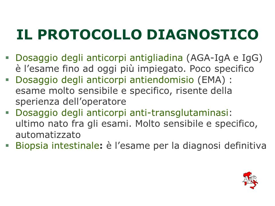 IL PROTOCOLLO DIAGNOSTICO