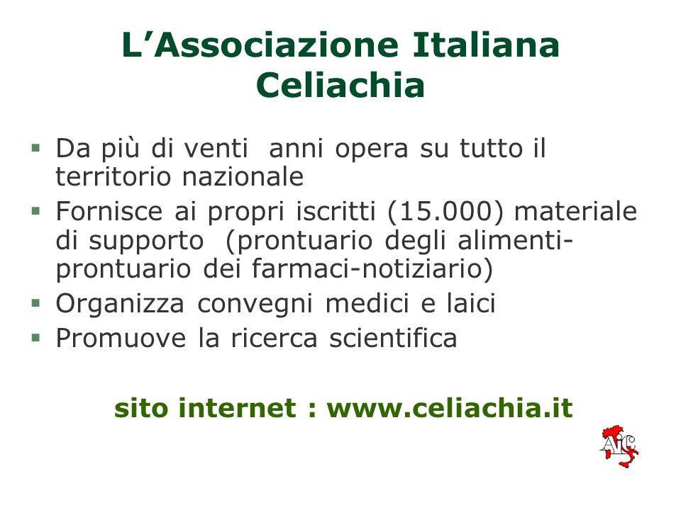 L'Associazione Italiana Celiachia