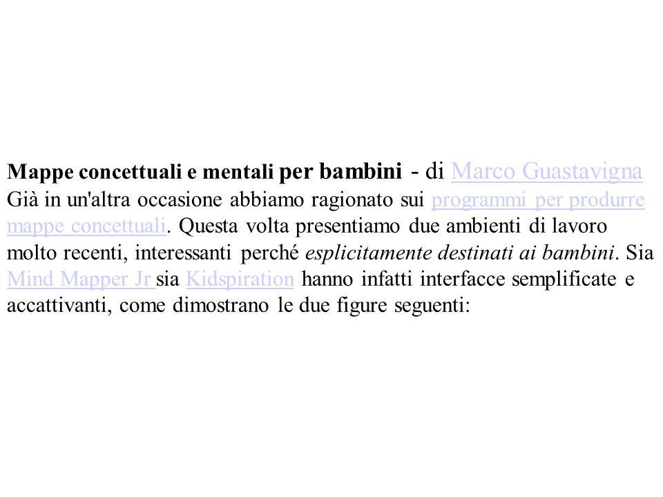 Mappe concettuali e mentali per bambini - di Marco Guastavigna