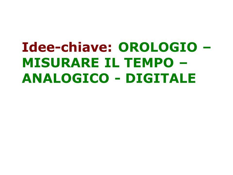 Idee-chiave: OROLOGIO –