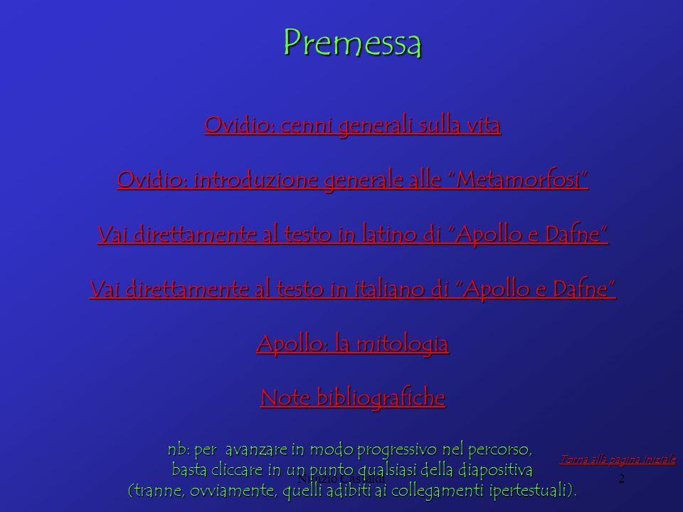 Premessa Ovidio: cenni generali sulla vita