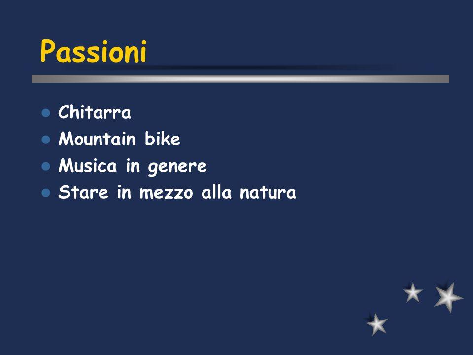 Passioni Chitarra Mountain bike Musica in genere