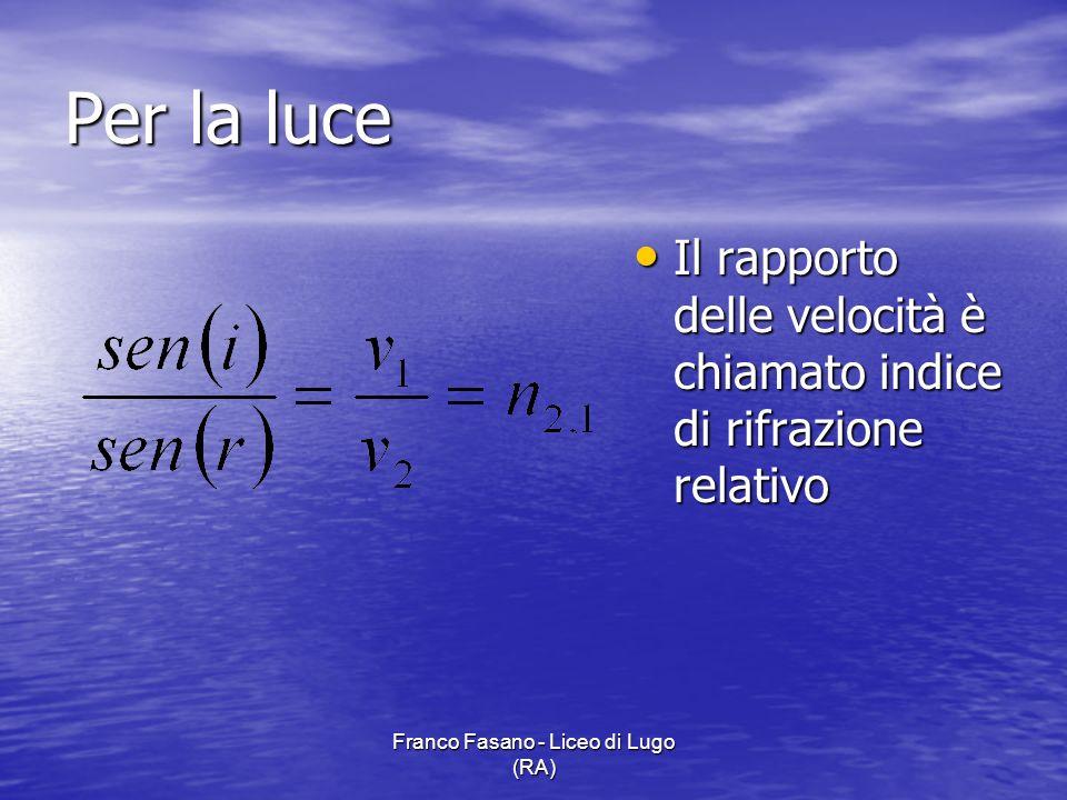 Franco Fasano - Liceo di Lugo (RA)
