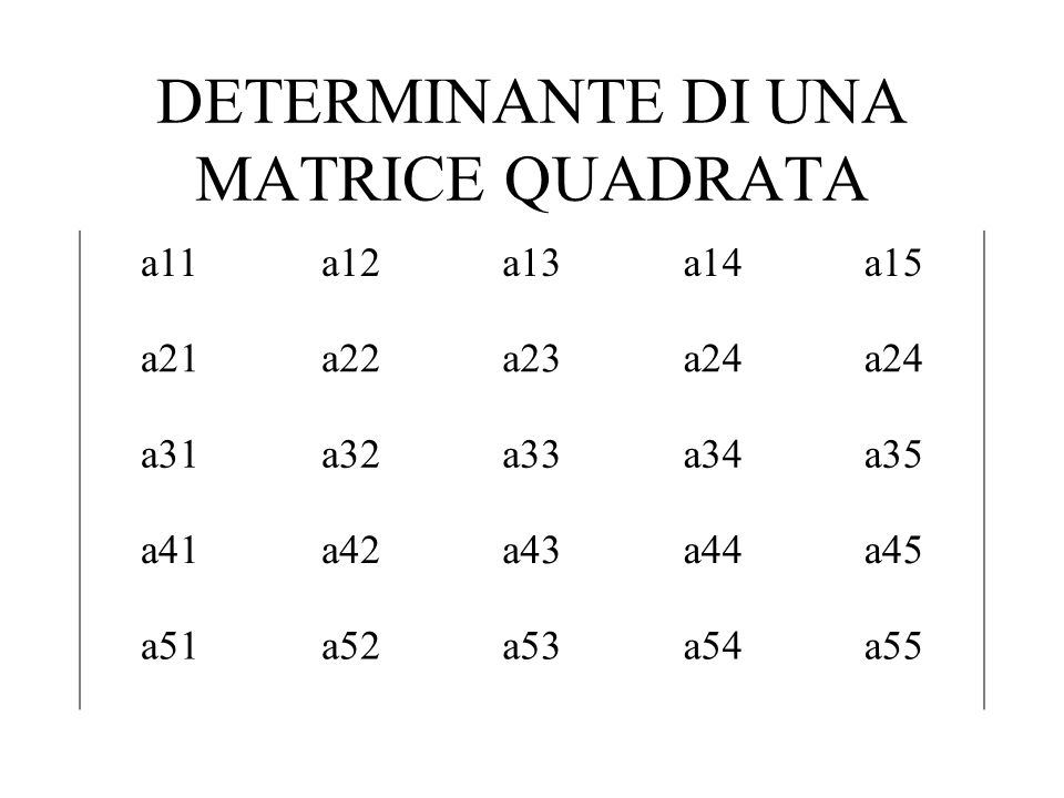 DETERMINANTE DI UNA MATRICE QUADRATA