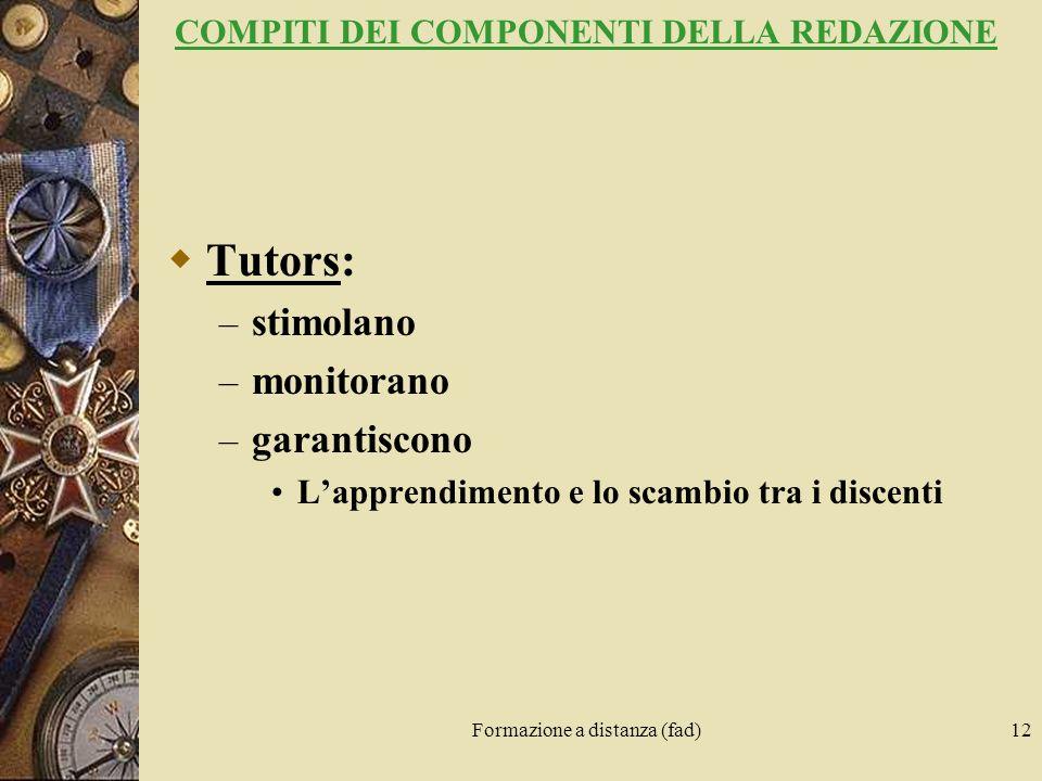 COMPITI DEI COMPONENTI DELLA REDAZIONE
