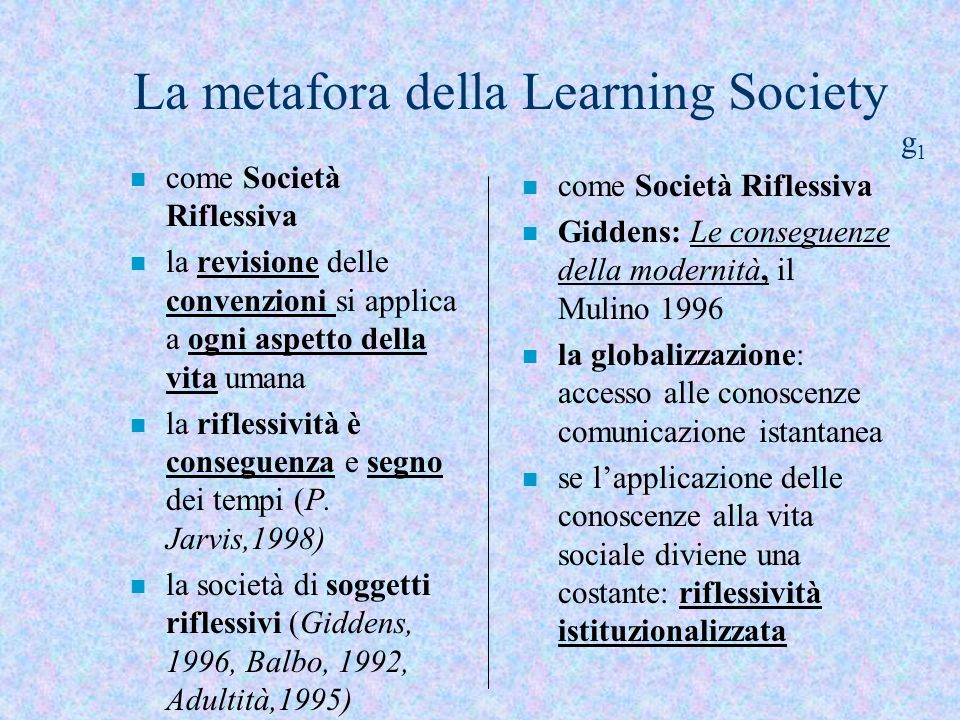 La metafora della Learning Society g1