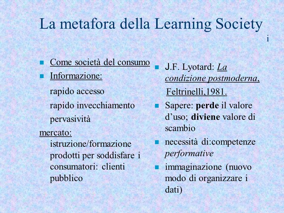 La metafora della Learning Society i