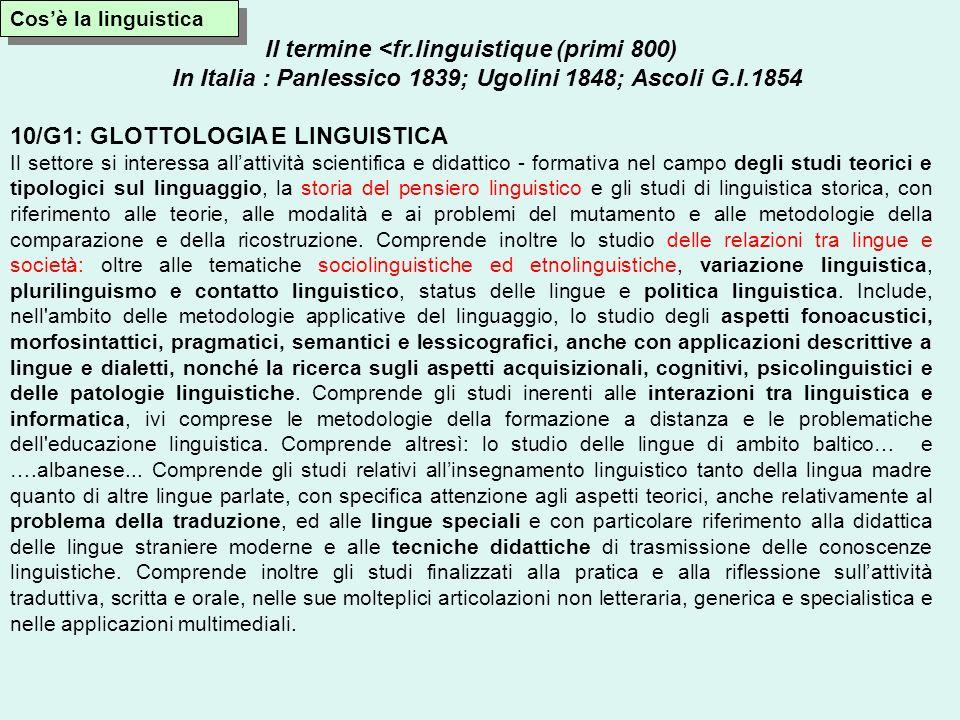 Il termine <fr.linguistique (primi 800)
