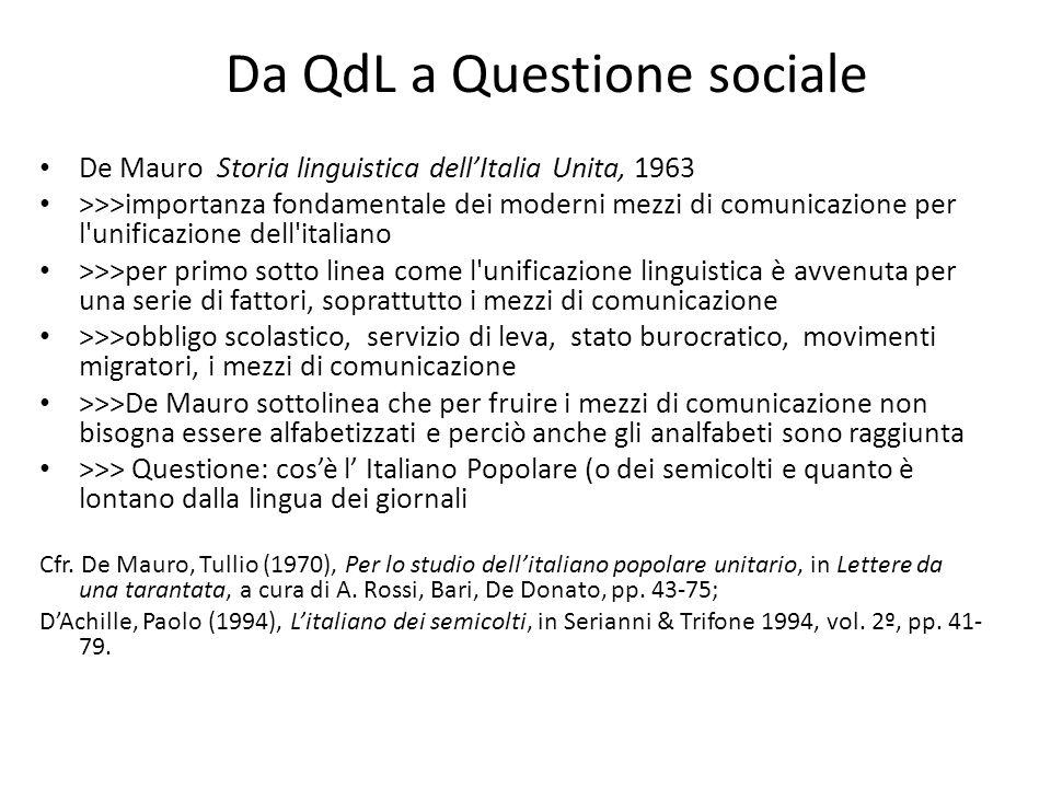 Da QdL a Questione sociale
