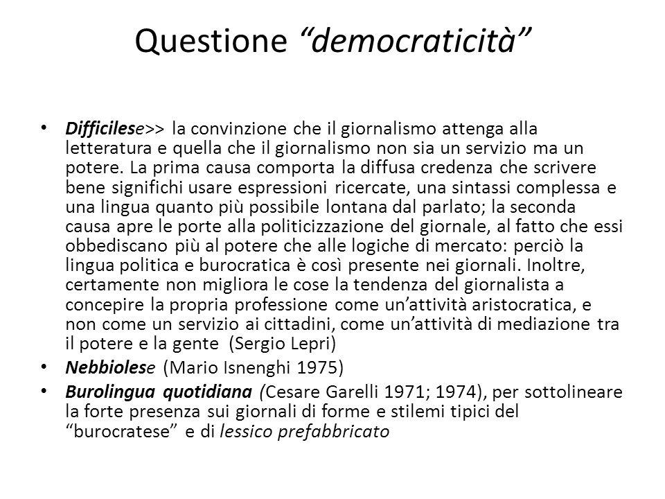 Questione democraticità