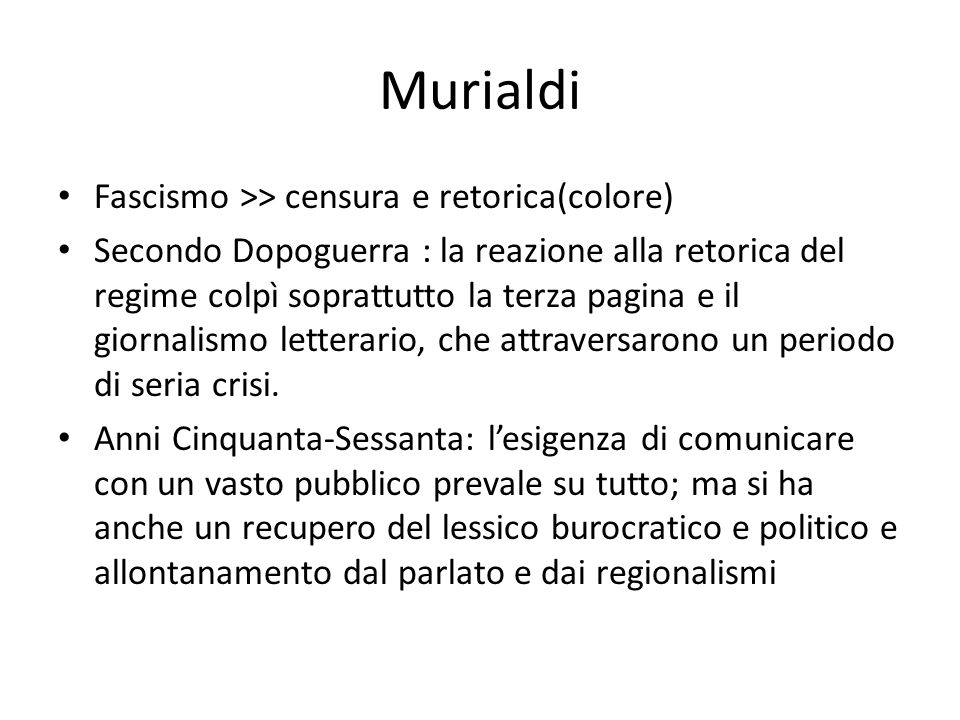 Murialdi Fascismo >> censura e retorica(colore)