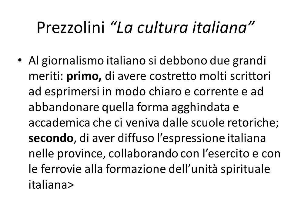Prezzolini La cultura italiana