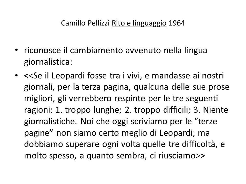 Camillo Pellizzi Rito e linguaggio 1964