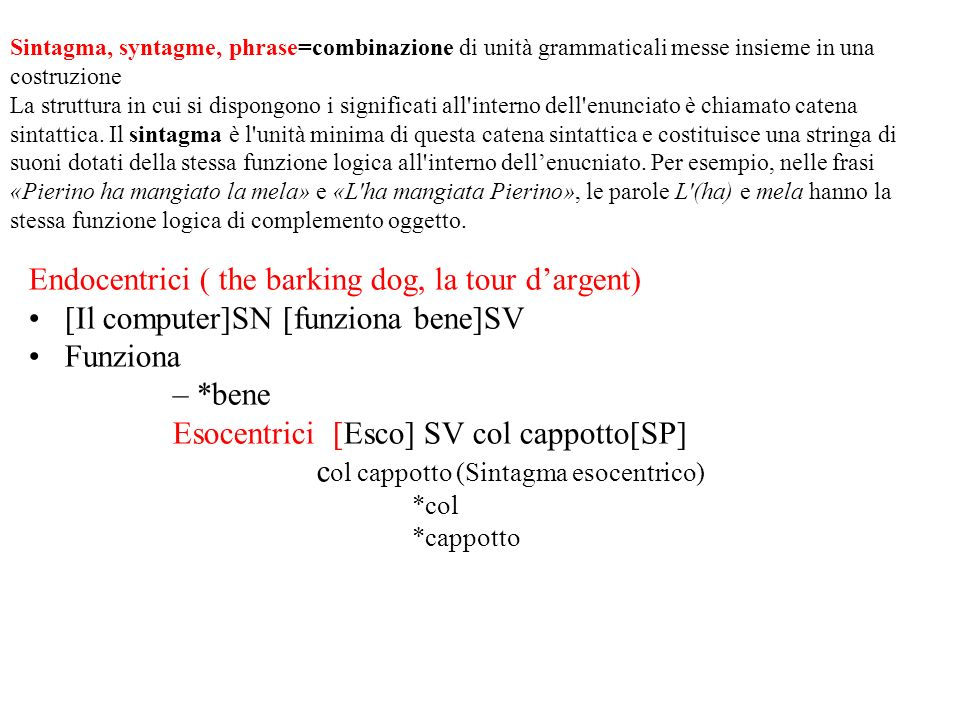 Endocentrici ( the barking dog, la tour d'argent)