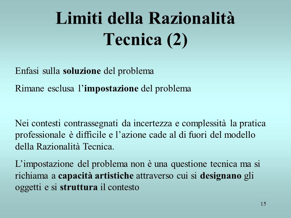 Limiti della Razionalità Tecnica (2)