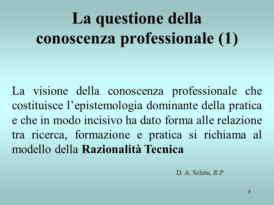 La questione della conoscenza professionale (1)