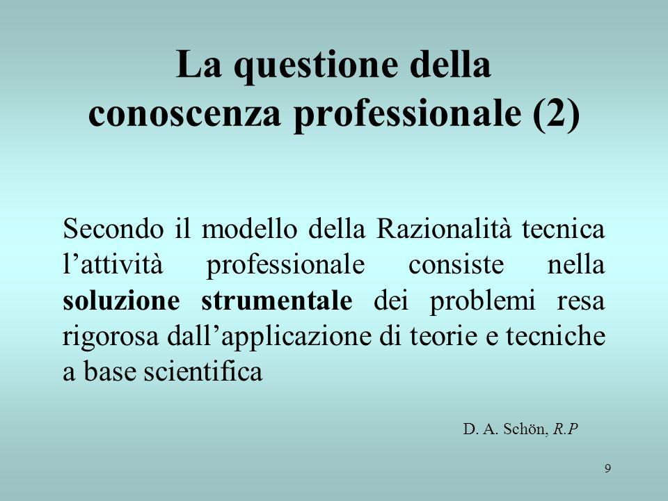 La questione della conoscenza professionale (2)