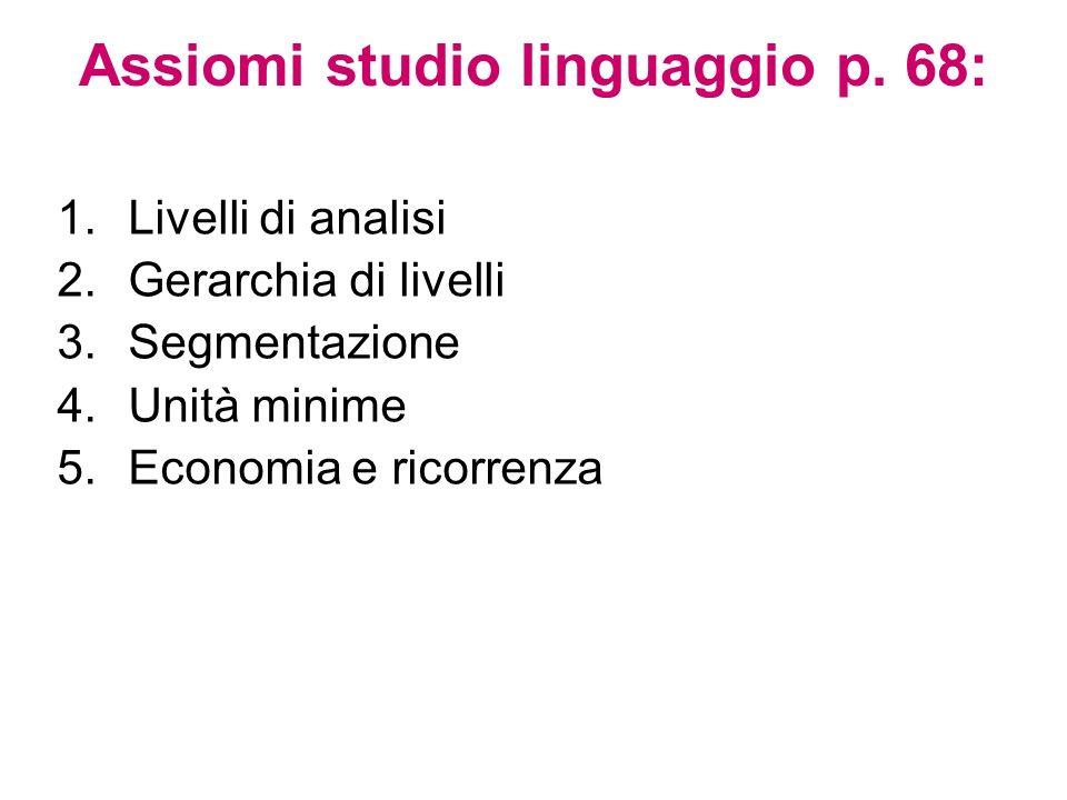 Assiomi studio linguaggio p. 68: