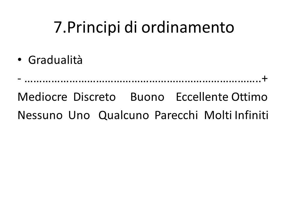 7.Principi di ordinamento