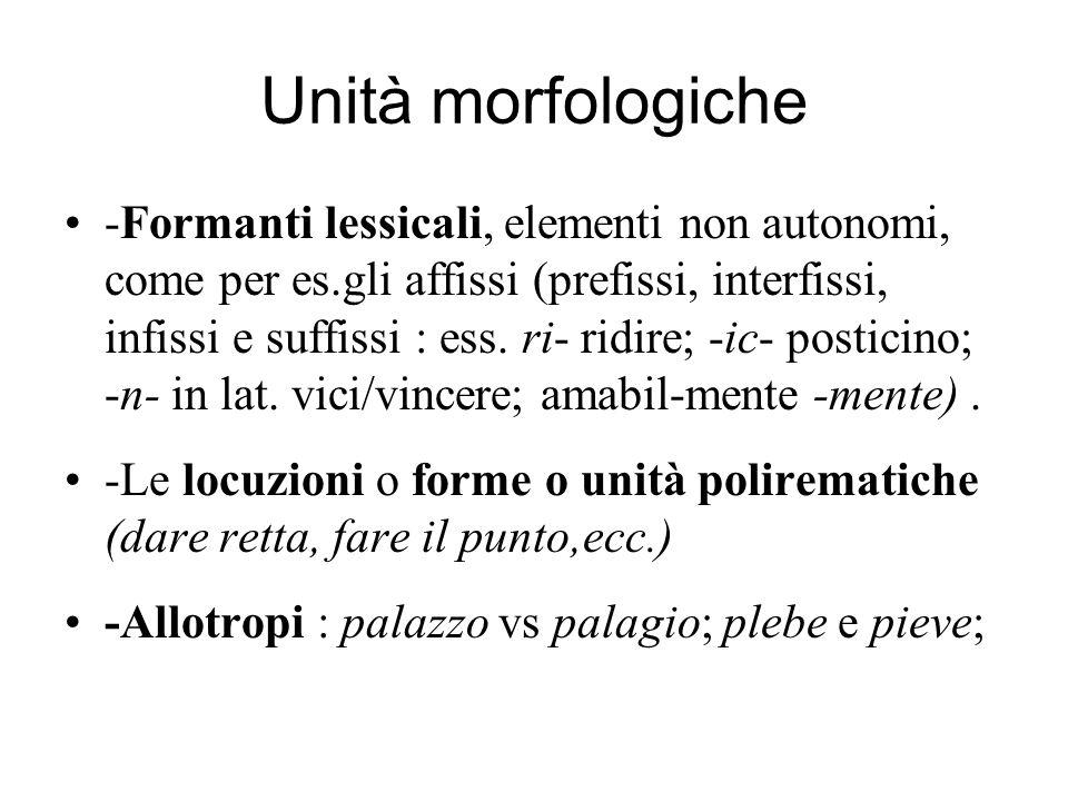 Unità morfologiche