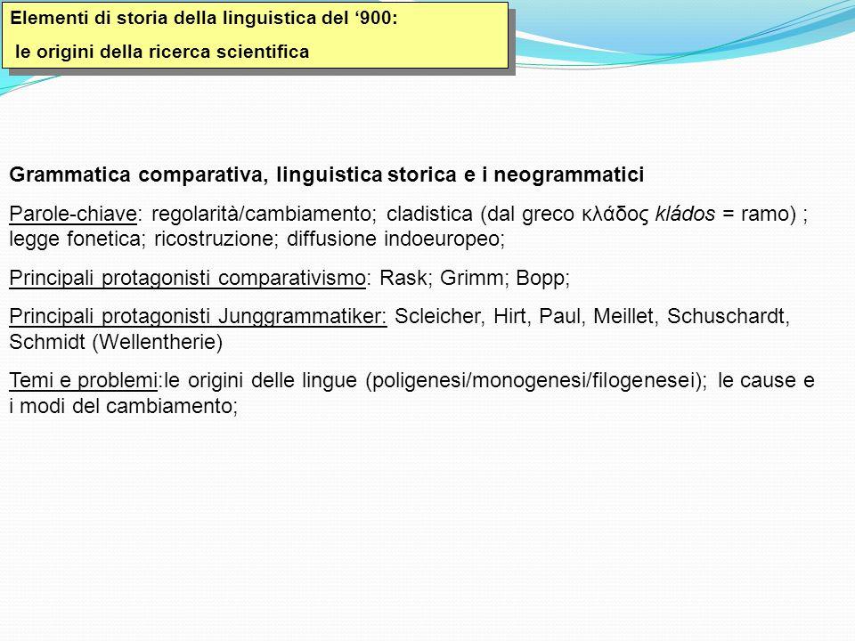 Grammatica comparativa, linguistica storica e i neogrammatici
