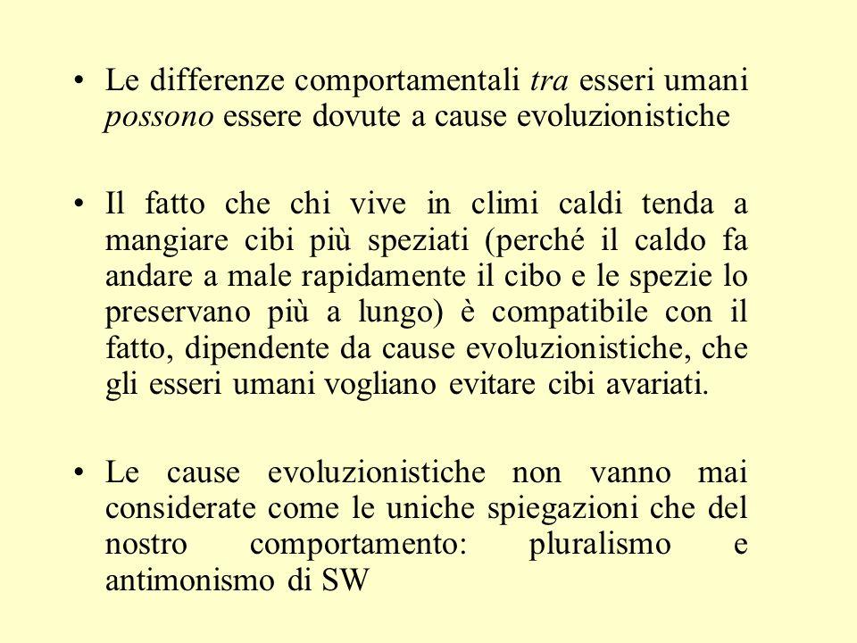 Le differenze comportamentali tra esseri umani possono essere dovute a cause evoluzionistiche