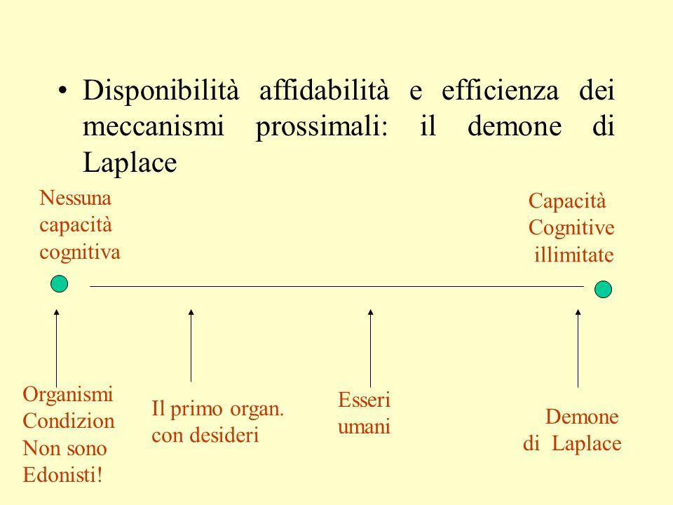 Disponibilità affidabilità e efficienza dei meccanismi prossimali: il demone di Laplace
