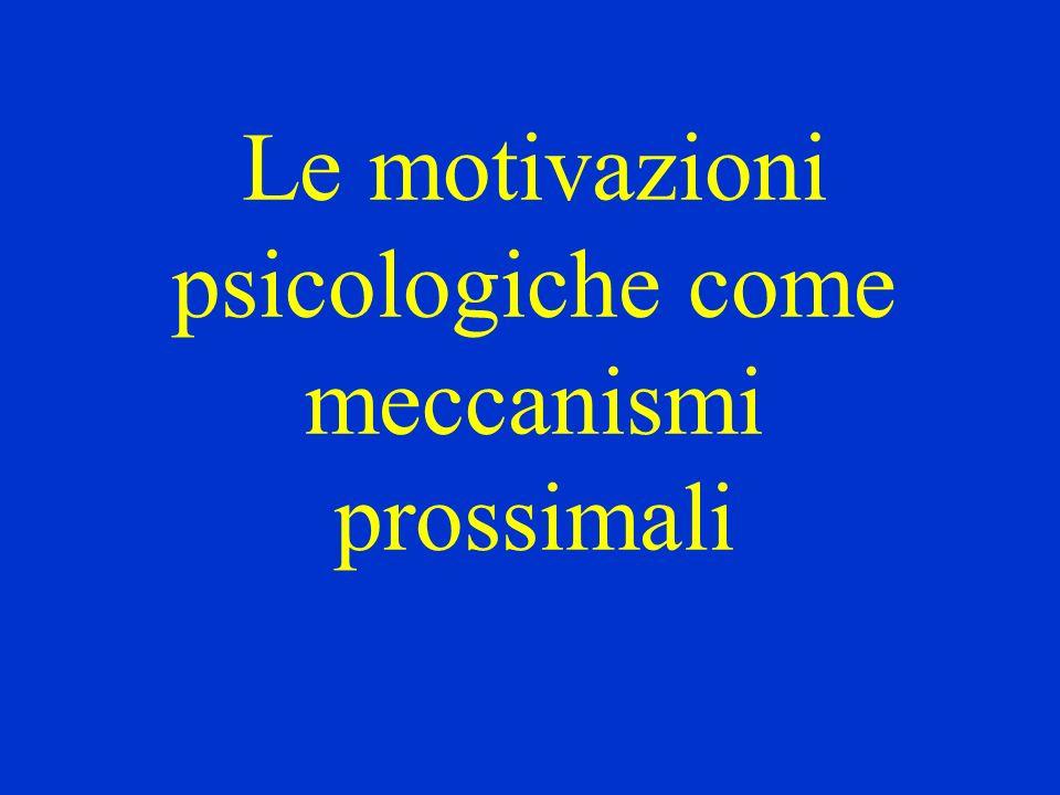 Le motivazioni psicologiche come meccanismi prossimali