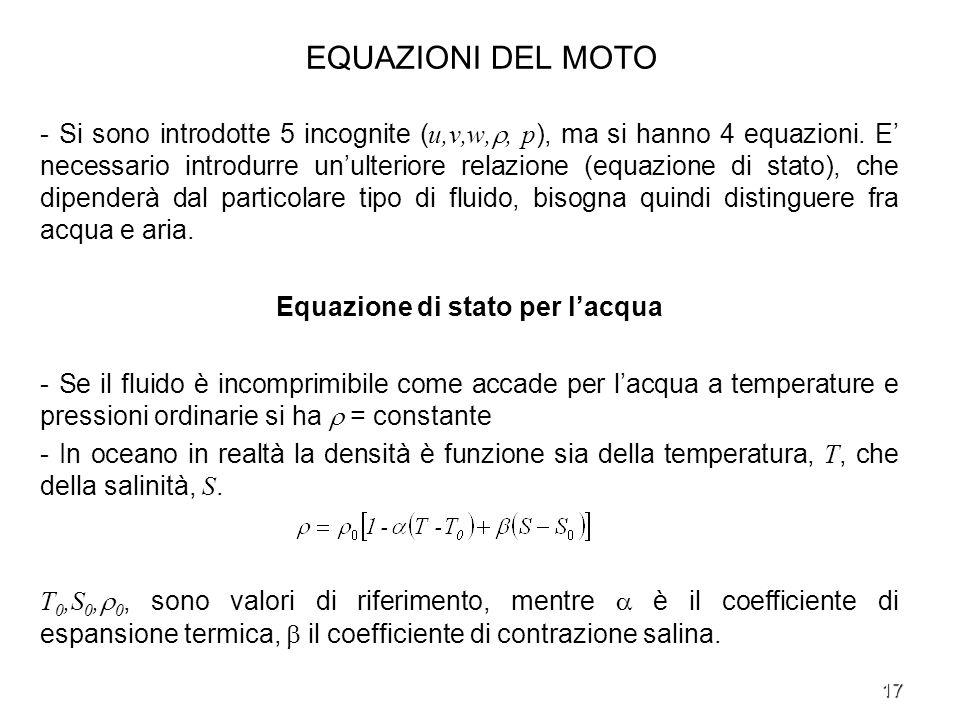 Equazione di stato per l'acqua