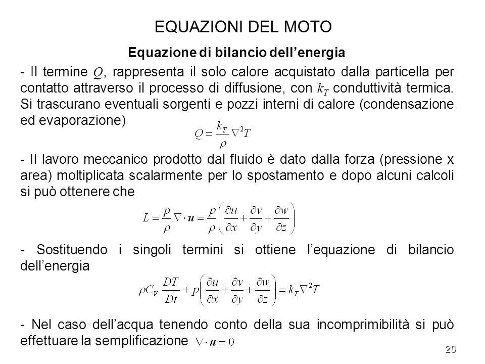 Equazione di bilancio dell'energia