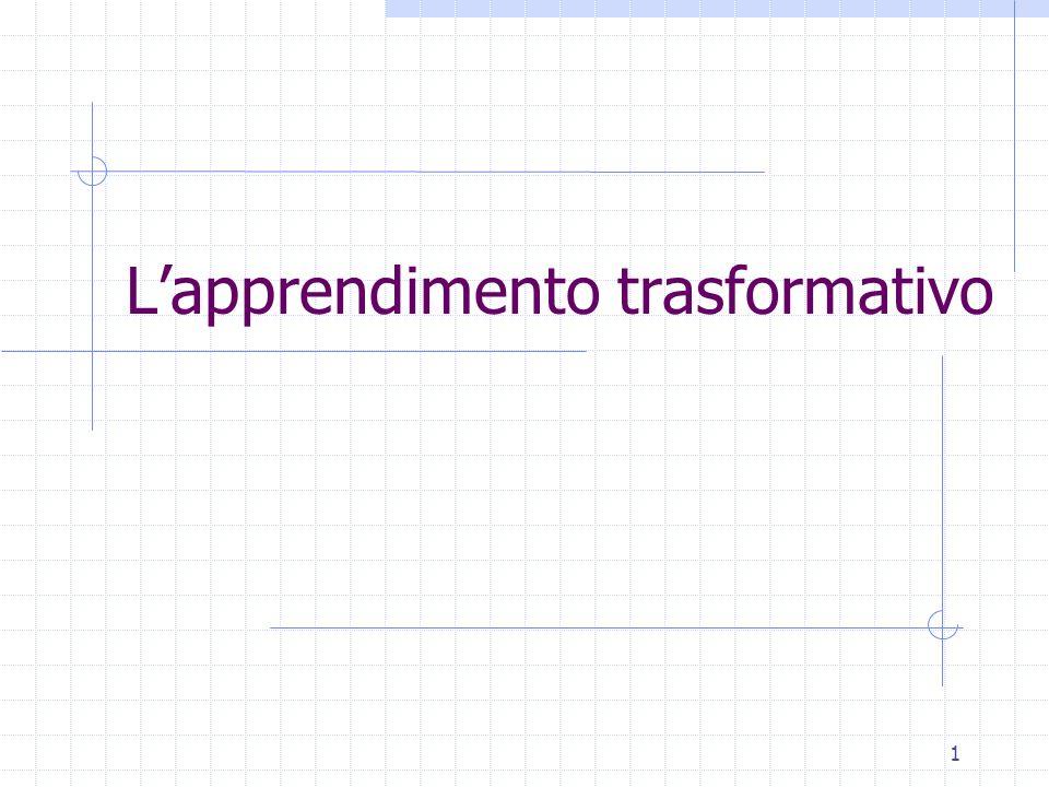 L'apprendimento trasformativo