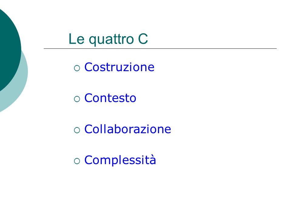 Le quattro C Costruzione Contesto Collaborazione Complessità