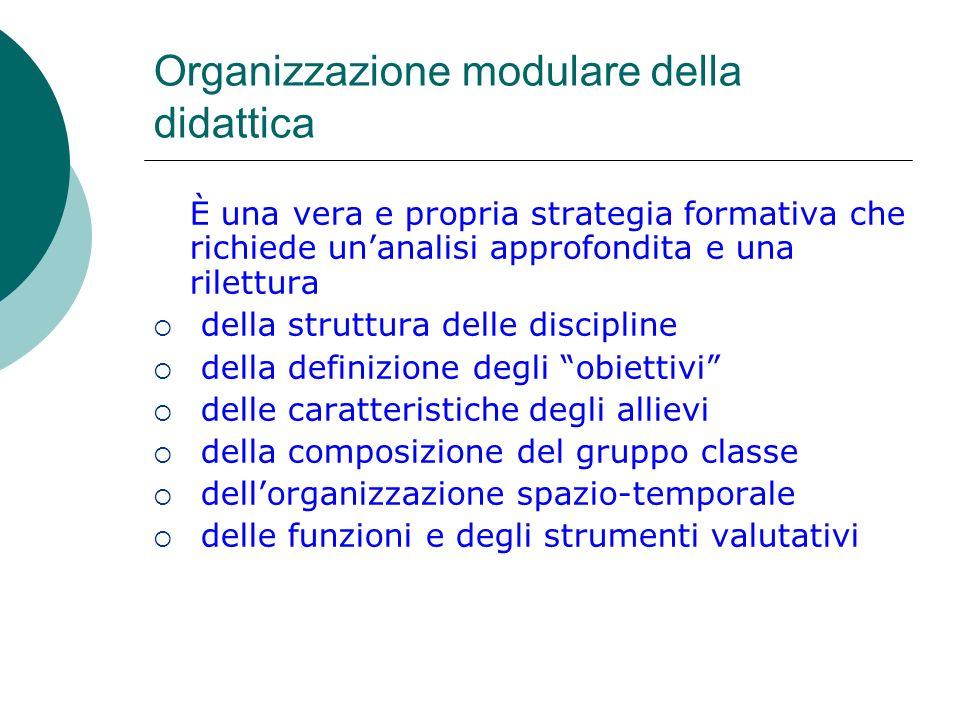 Organizzazione modulare della didattica