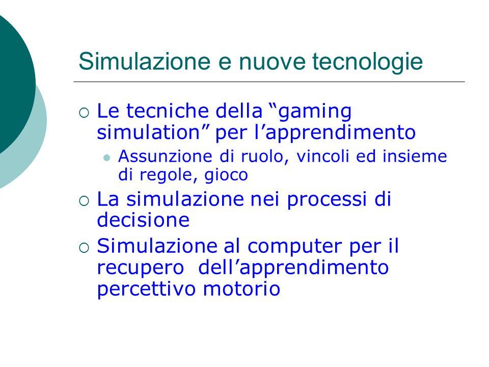 Simulazione e nuove tecnologie