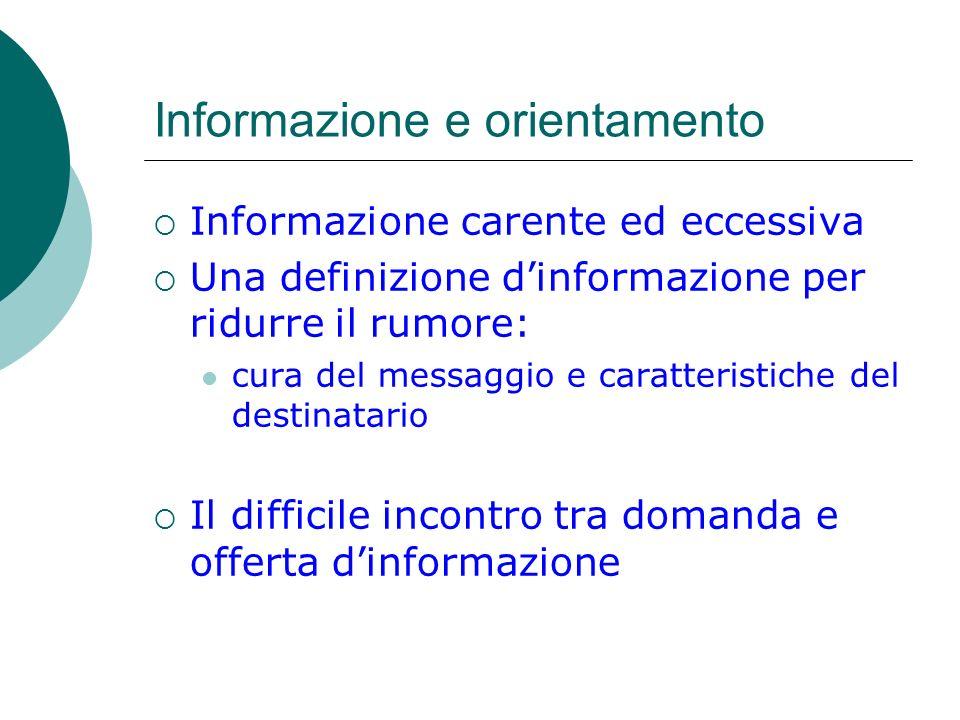 Informazione e orientamento