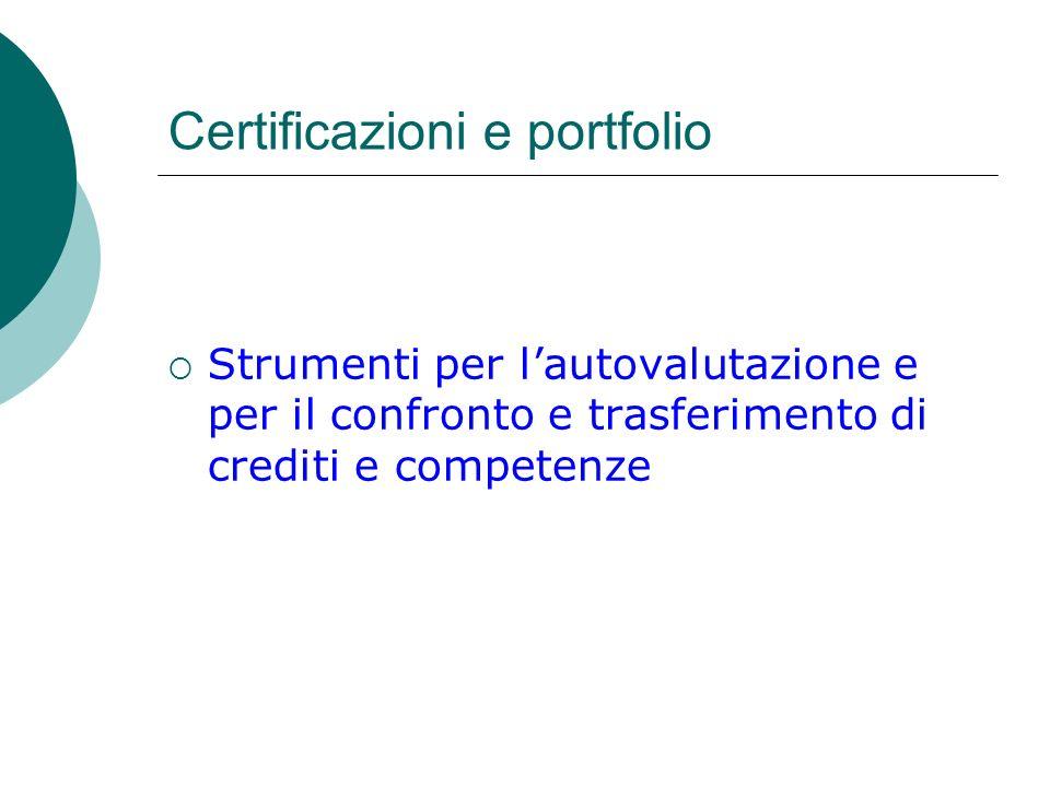Certificazioni e portfolio