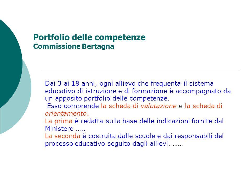 Portfolio delle competenze Commissione Bertagna