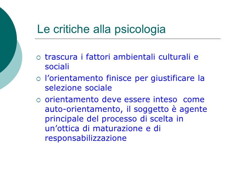 Le critiche alla psicologia