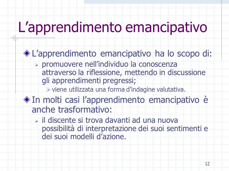 L'apprendimento emancipativo
