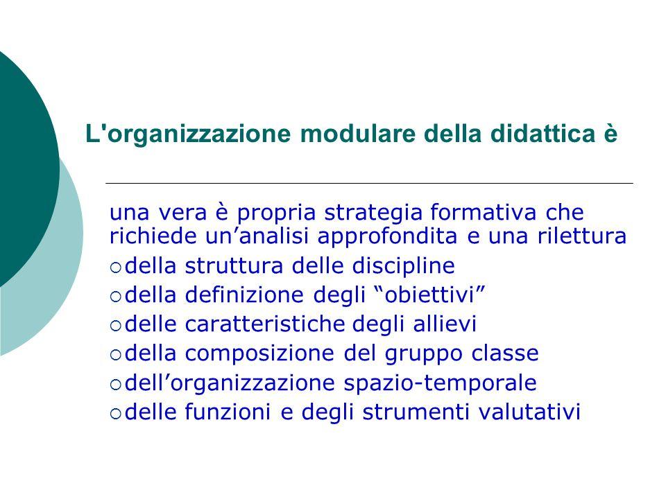 L organizzazione modulare della didattica è