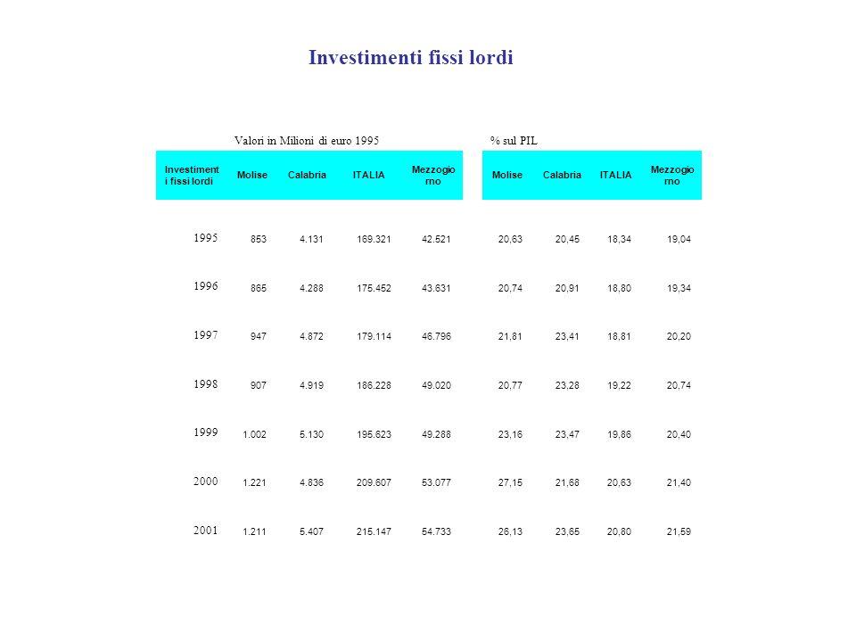 Investimenti fissi lordi